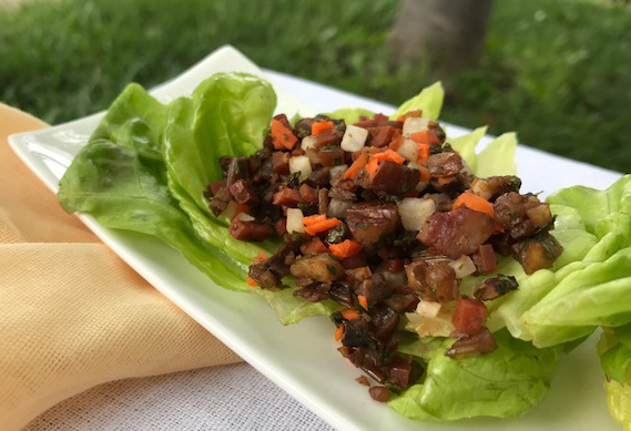 This dish is wonderful in summer served at room temperature for picnics or as a light evening main course. It is also lovely warm and you can make it more or less spicy and sweet according to taste and the rest of the menu.