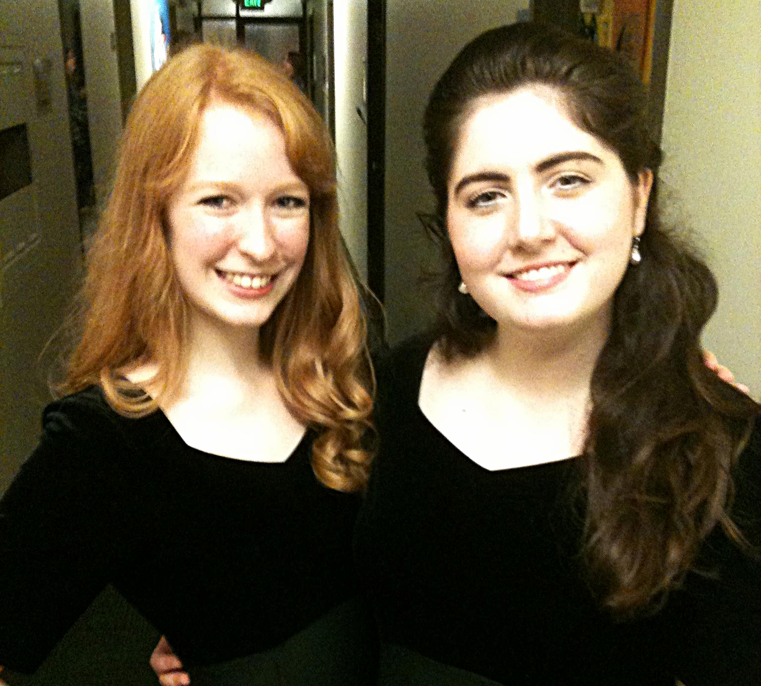 After a choir concert with my roommate!