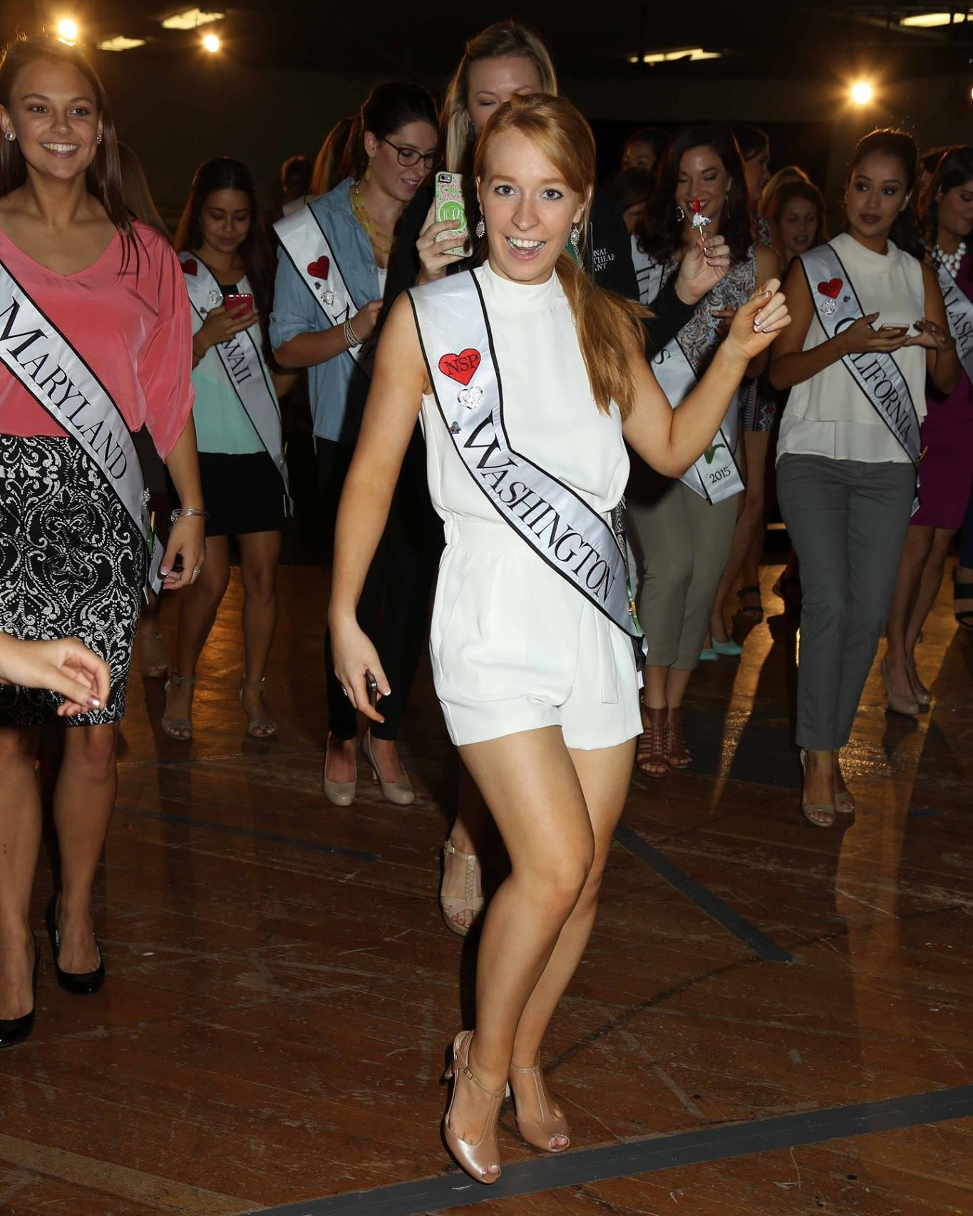 White Romper - National Sweetheart Pageant