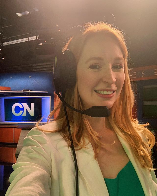 Floor directing today for @cronkitenews ! The last time I was a floor director was in my elementary school newscast. 17 years ago! 😱#funfact