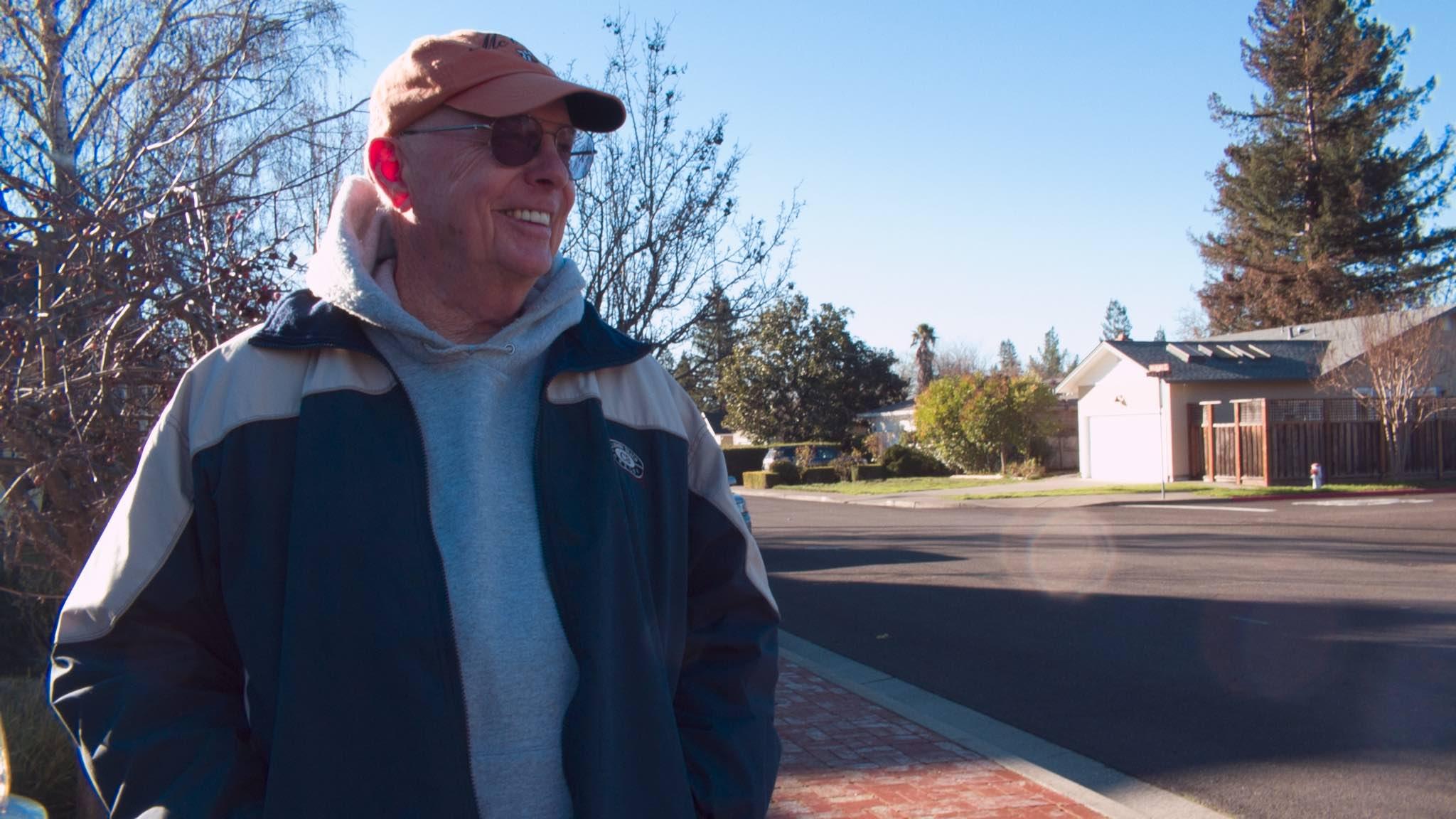 Bob in his driveway, December 2015