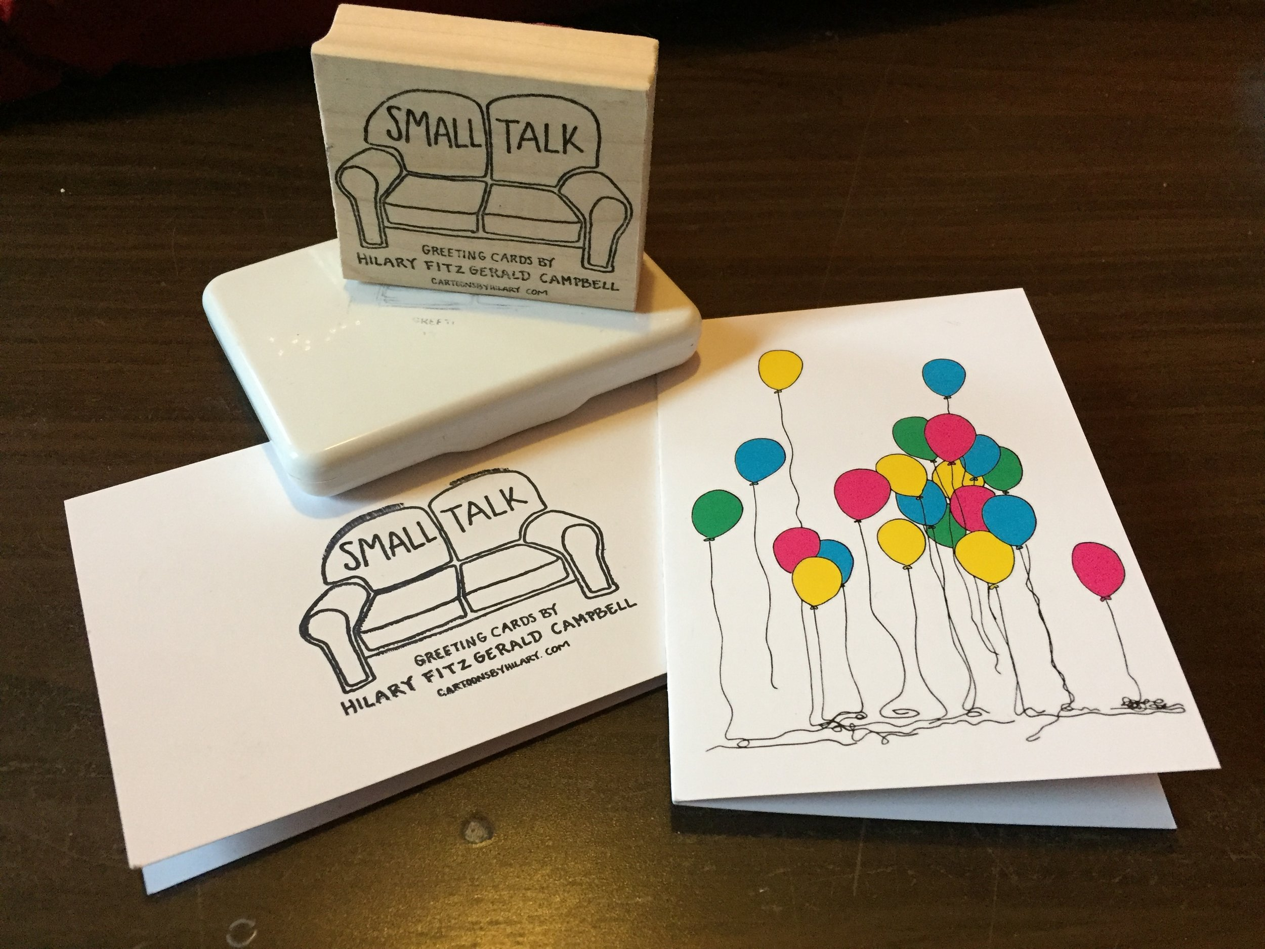 Balloon Party Birthday Card