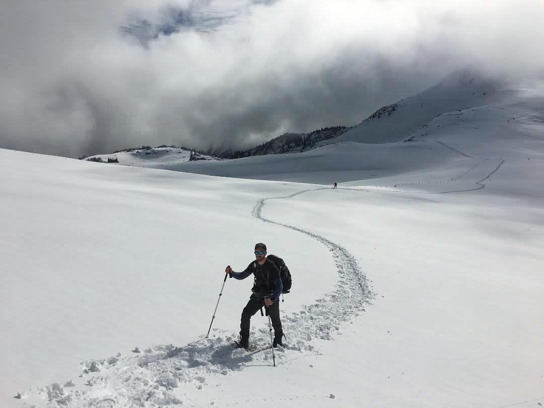 Snowshoe adventure in Mt. Rainier N.P.