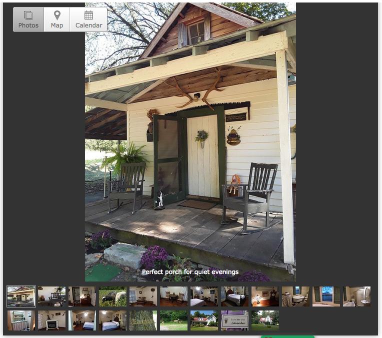 VRBO Listing Lavender Cottage near Jack Daniel Distillery