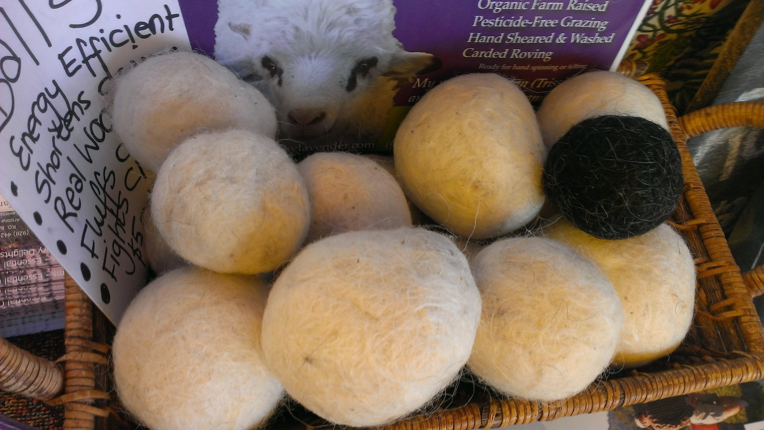 100% felted navajo churro wool dryer balls with lavender oil (or use them as cat toys......, stress ball, or just for the scent)