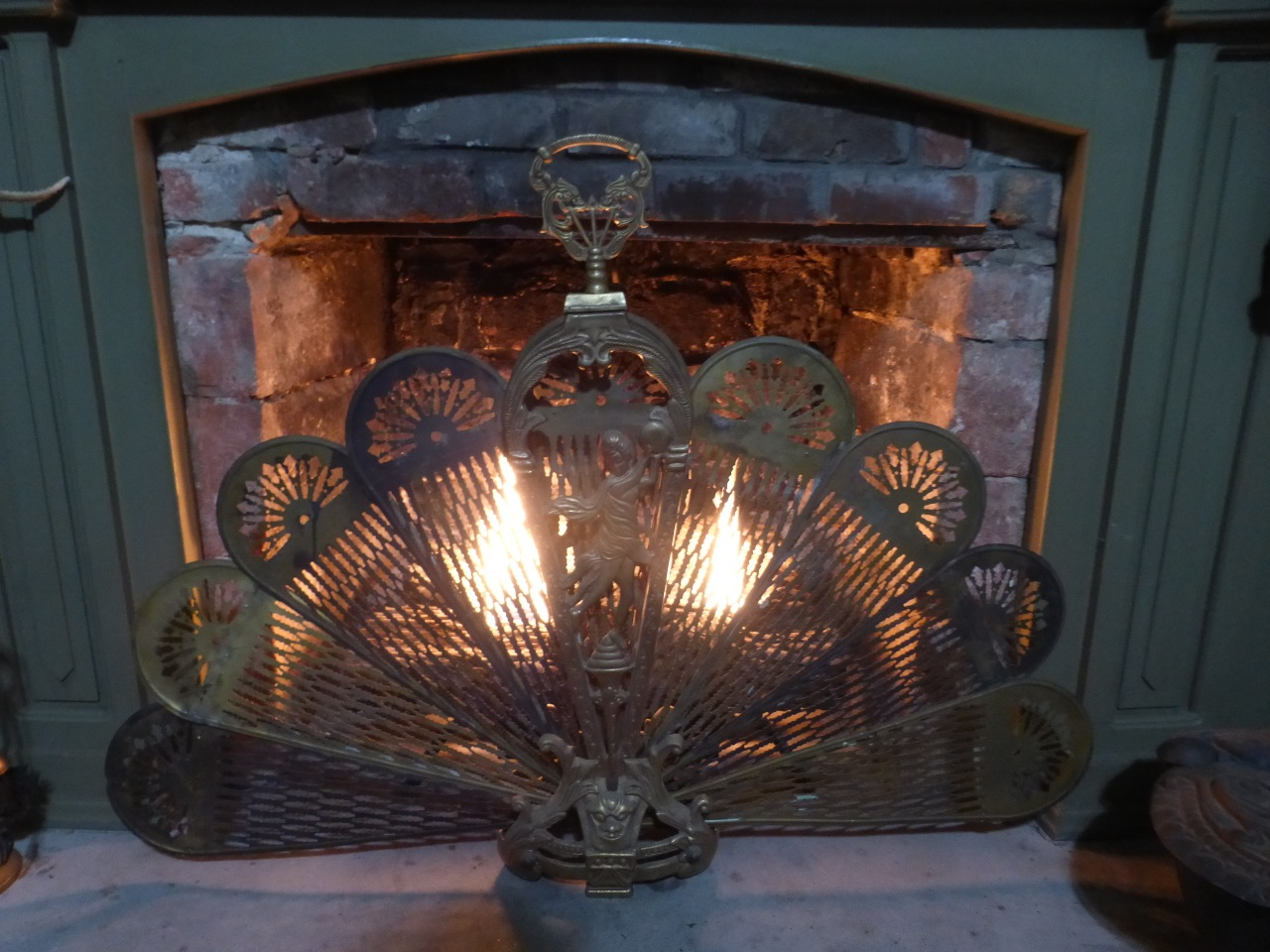 Lovely Fireplace in the Mulberry Lavender Farm B&B
