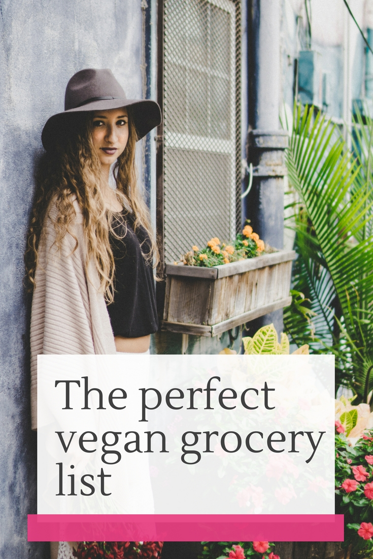 make a perfect vegan grocery list