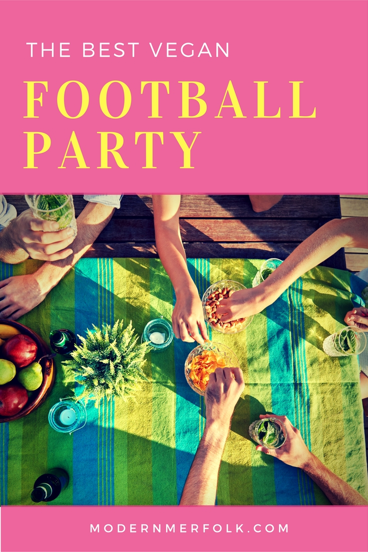 the best vegan football party