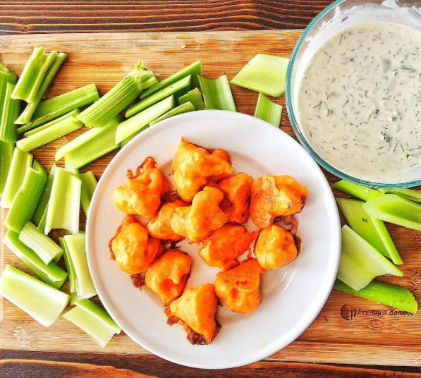 Vegan Cauliflower Wings Football Party