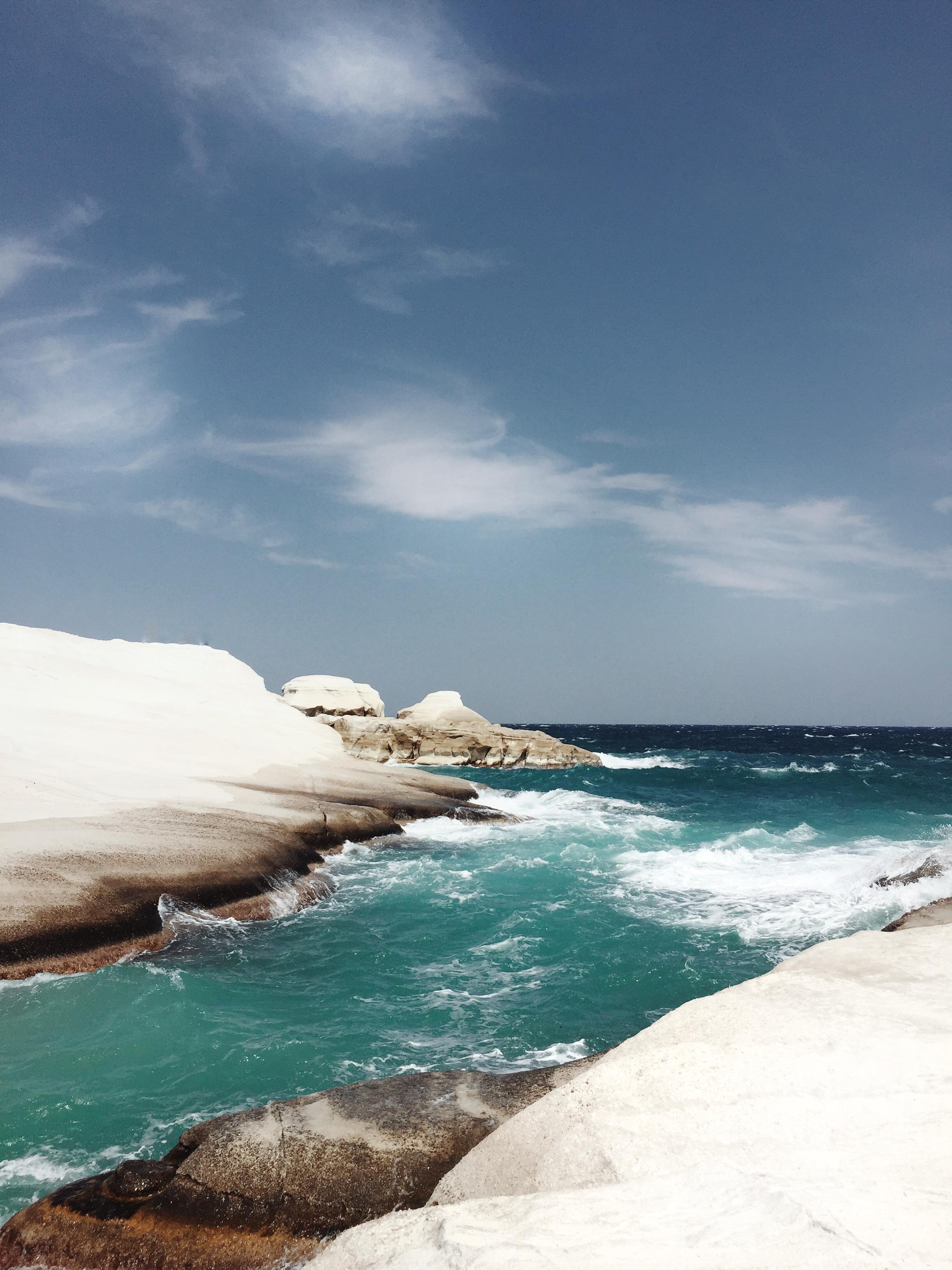 white cliffs vegan in Greece