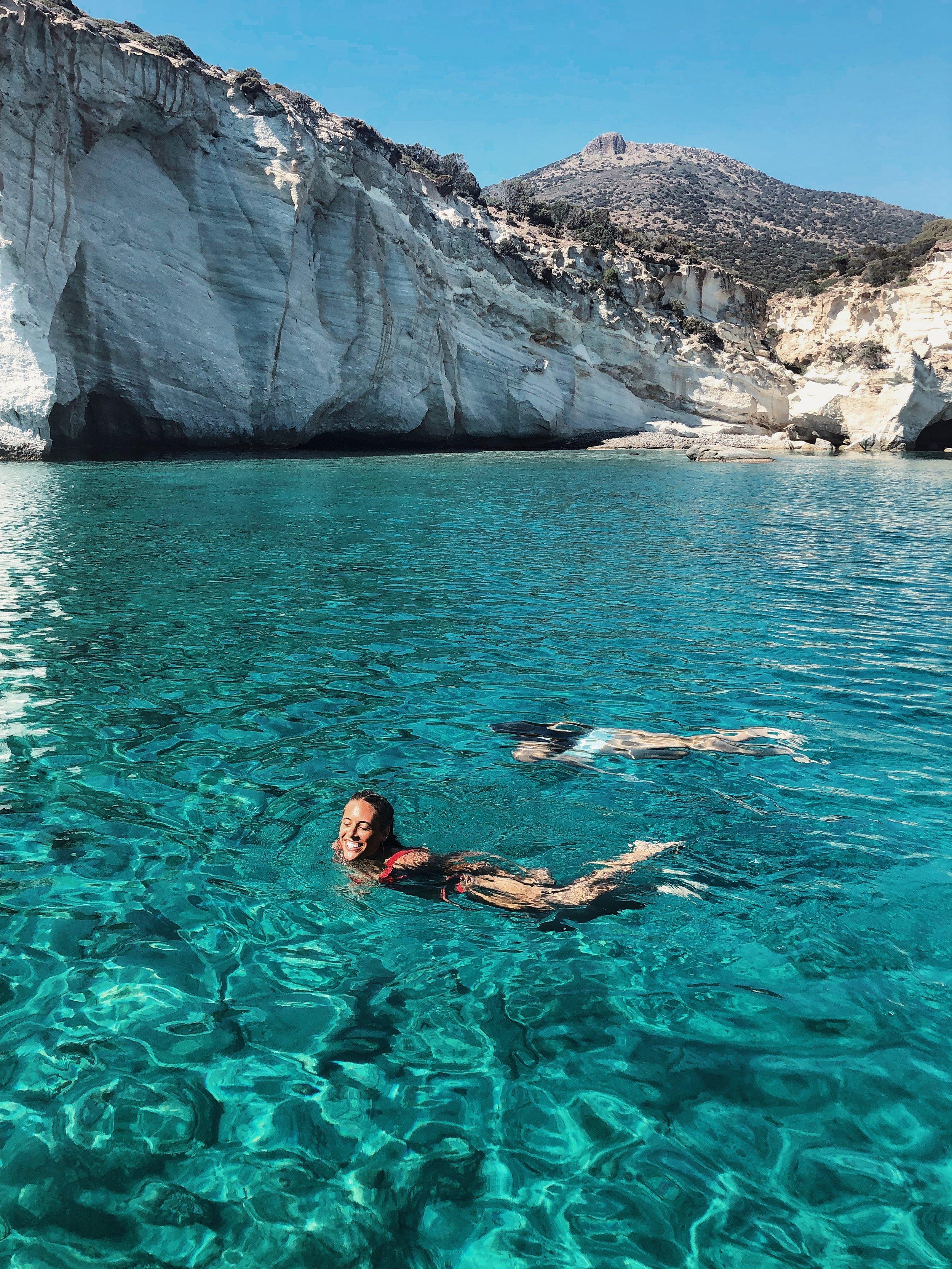 vegan girls swimming in greece modern merfolk