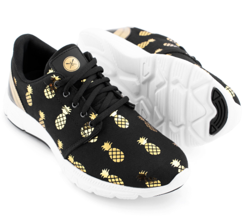 inkkas vegan golden pineapple shoes