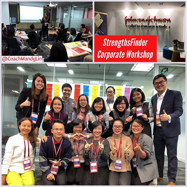 Had an enjoyable StrengthsFinder workshop for JnJ Vietnam, Hanoi.  The slight language barrier did not stop this team from learning about their own talent and strengths as @coachvictorseet and I were energised by the team's hunger to learn. 💪🏼 It is no surprise that #learner was one of most common strengths themes in this group and laughters filled the room as the team learns about each other strengths and talents.  The workshop ended with happy faces and hearts that are full ❤️ #strengthsfinder #teambonding #leadership #corporateworkshop #hanoi #vietnam #talents #strengths #everyoneisunique #coachmandylin #selfawareness #change