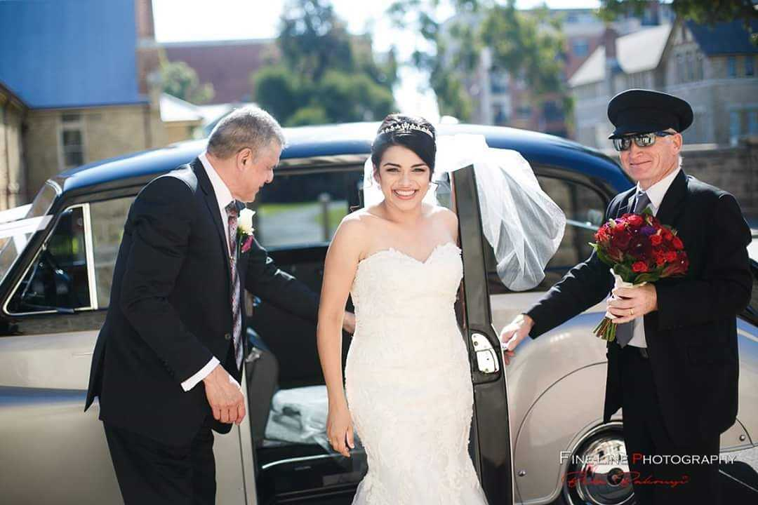FineLine-Photography-Nicole-with-Dad-and-Vince-exiting-Very-Nice-Classics-wedding-car.jpg
