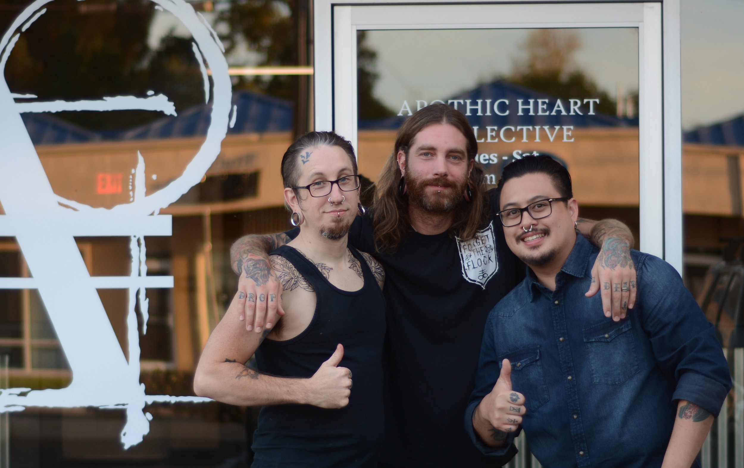 Apothic Heart Tattoo Collective Owners from left to right: Eric MacLachlan, Keith Cromie, and Andre Garcia