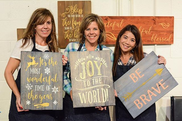 Bring your friends to Ty's Wood Sign Workshop and make a wood sign that you will love! REGISTER HERE: www.19thandwest.com