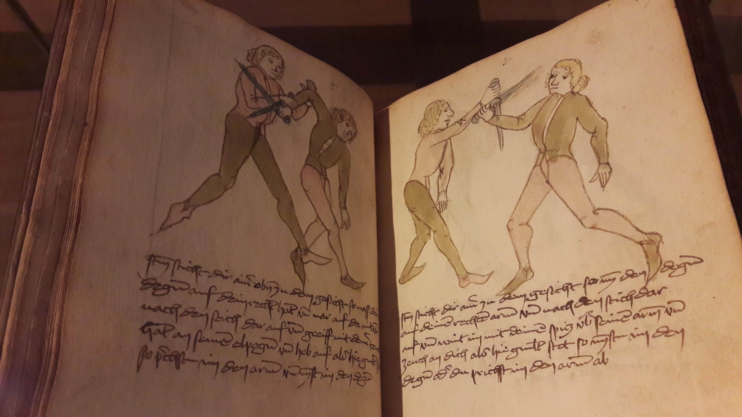 Anonymous [codex Wallerstein / von Baumann Fechtbuch], 1420/1470. UB, Augsburg.
