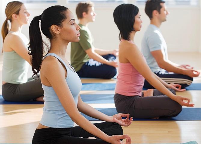 Corporate meditation class