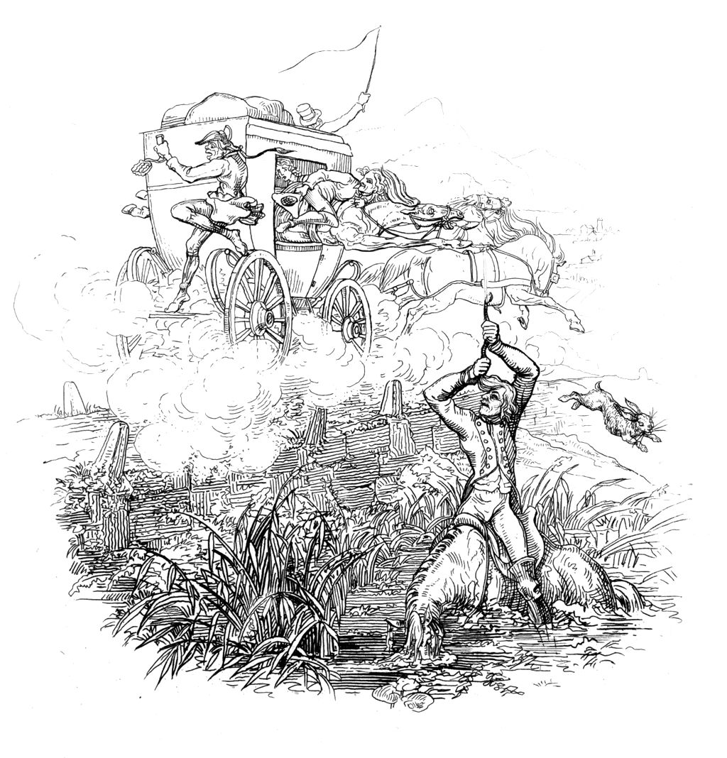 "Baron Munchausen  pulls himself and his horse out of a swamp by his pigtail.  Bootstrapping , the term appears to have originated in the early 19th-century United States (particularly in the phrase ""pull oneself over a fence by one's bootstraps"") to mean an absurdly impossible action. (Wikipedia)"
