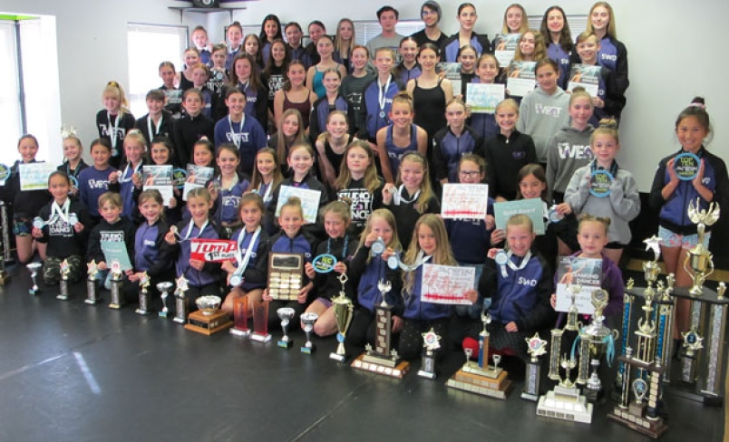 Competitive dancers from Studio West Dance in Ladner have achieved an unprecedented level of awards at five different competitions in the Lower Mainland and Fraser Valley.  Photograph ByIAN JACQUES