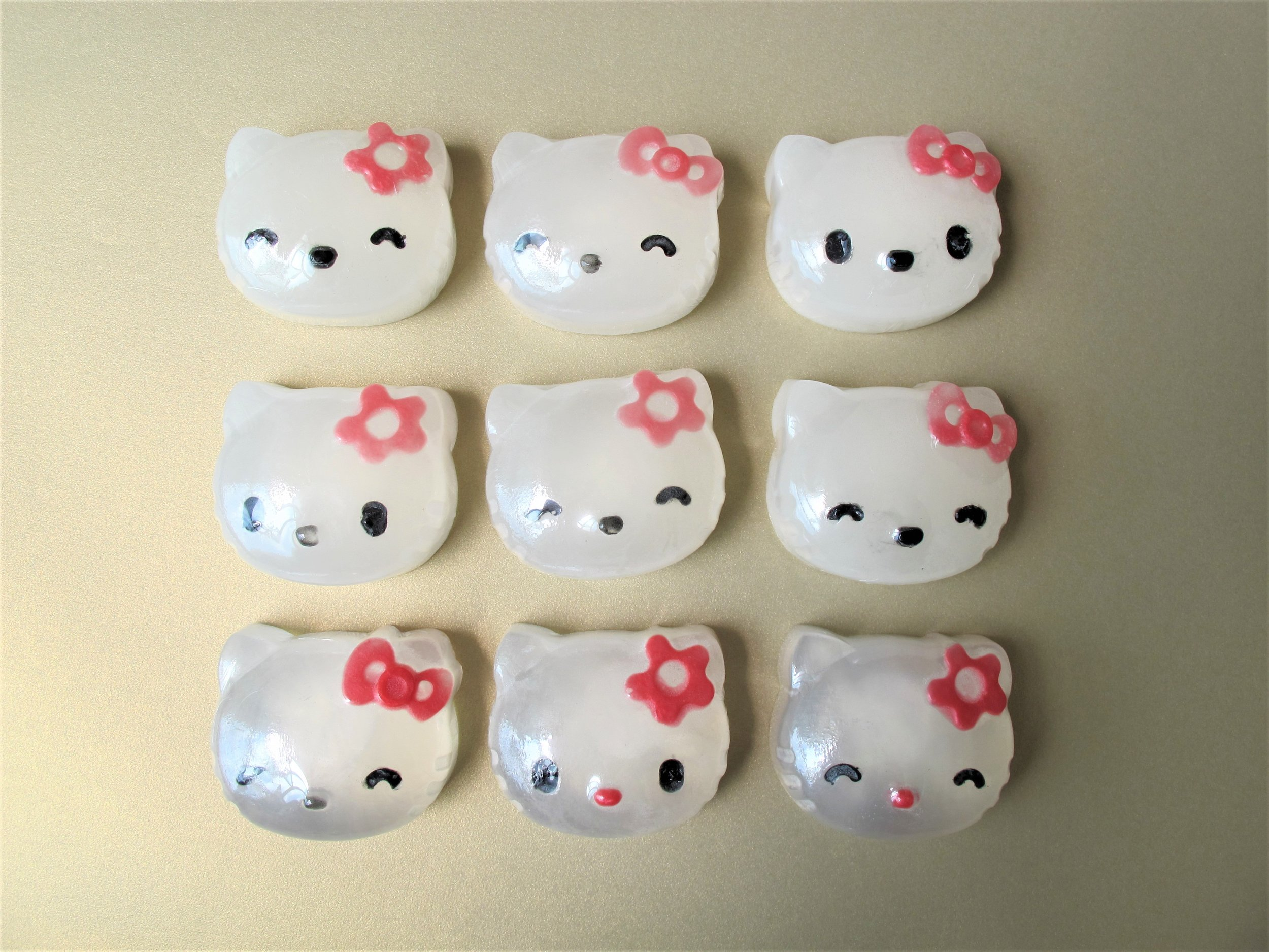 Sample Customised Hello Kitty Baby Soap 85g, coloured, with essential oils.
