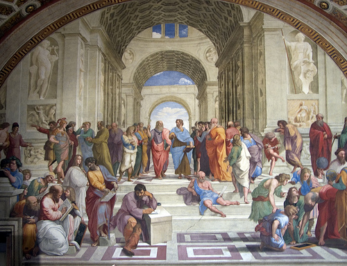 Stephen Zucker, Raphael's  School of Athens , via photopin.com, creative commons license.