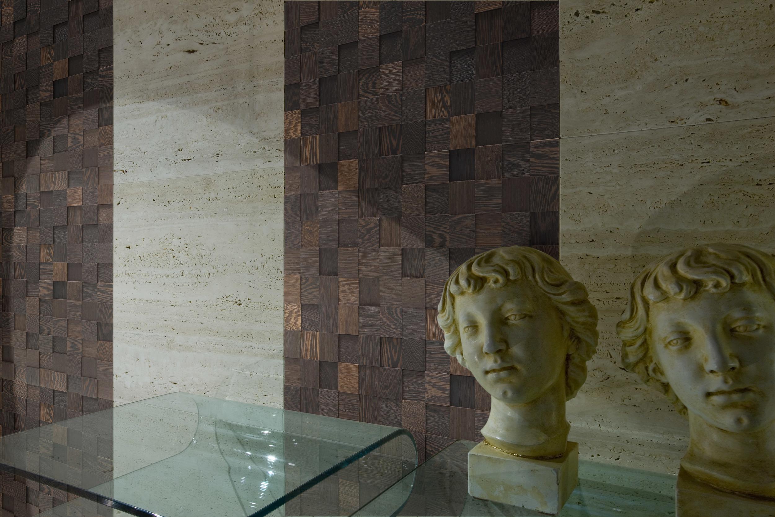 Mosaico D´Asolo 3D Wengè