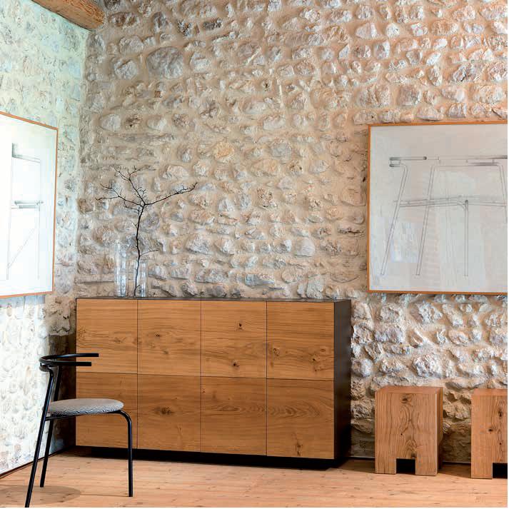Oak 8 door sideboard