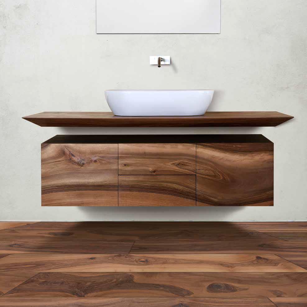 European Walnut Bathroom unit
