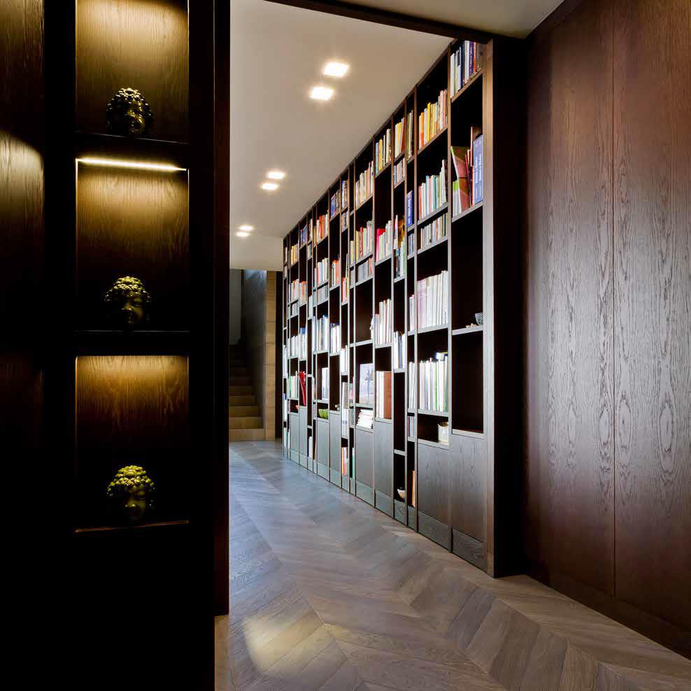 Heat treated Oak bookcase