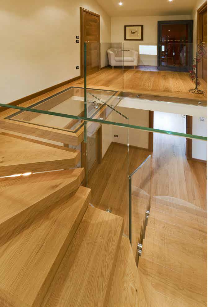 Oak stair and floor