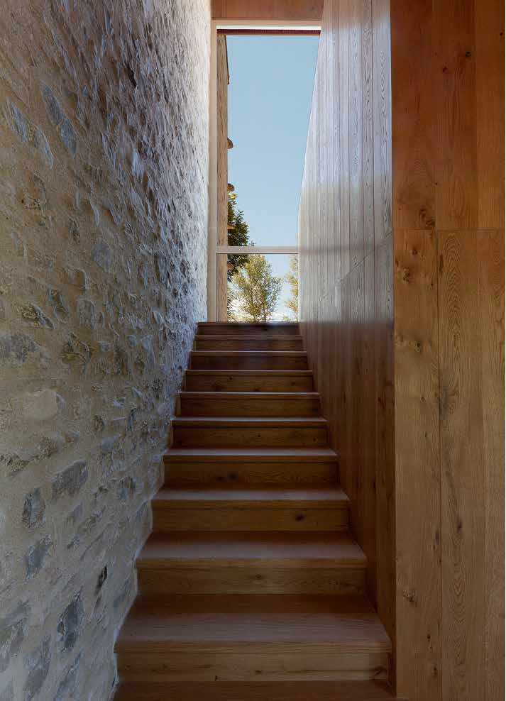 Oak Stair and wall