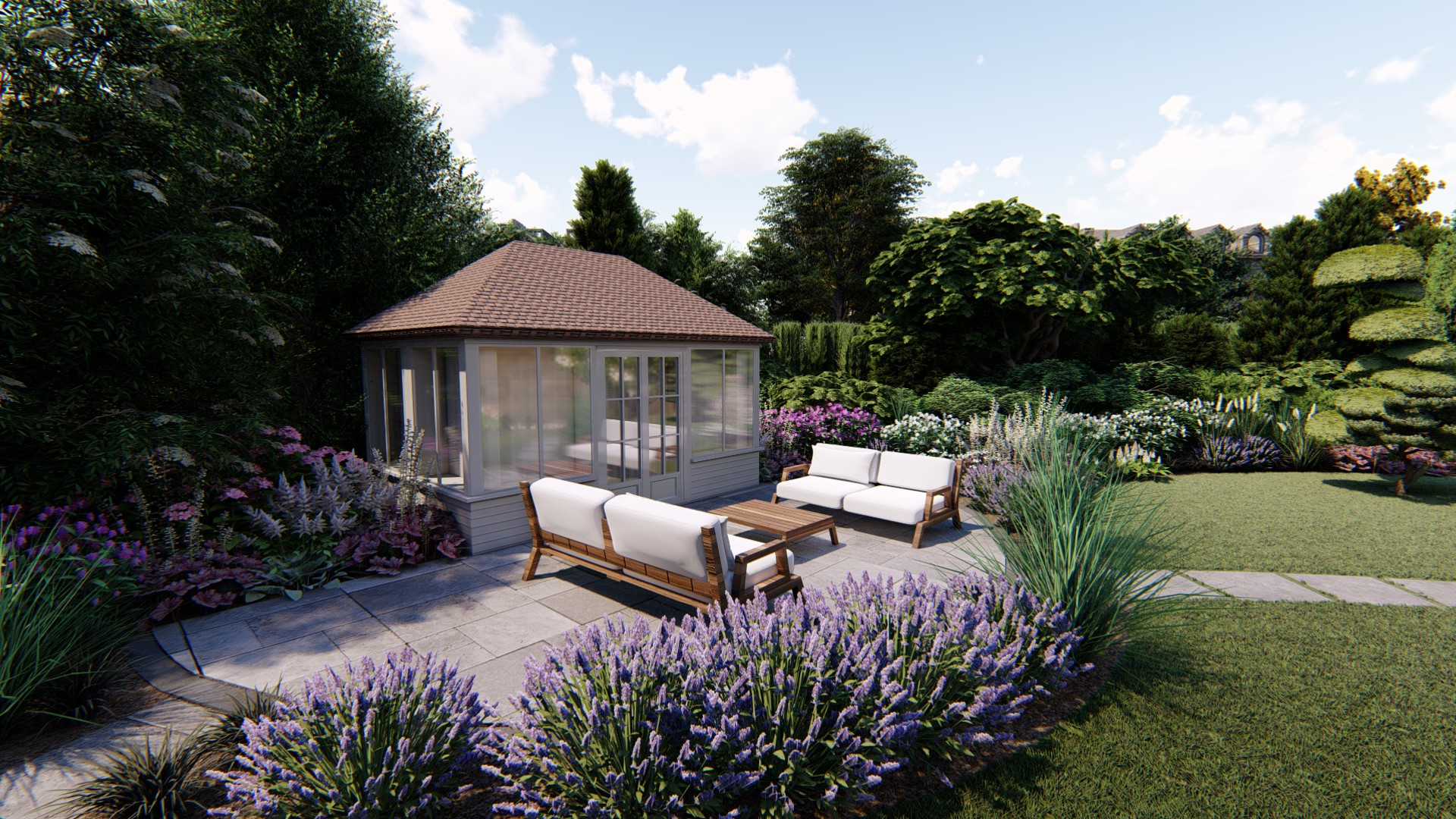 3d Visualisation for a Patio, Glasgow