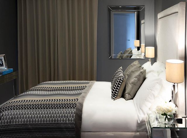 Three bedroom penthouse in Islington, London designed by Abahati Design . . . #luxury #residential #interiordesign #penthouse #bedroomdecor #bedroomdesign #headboard #abahatidesign #flowers #diptyque