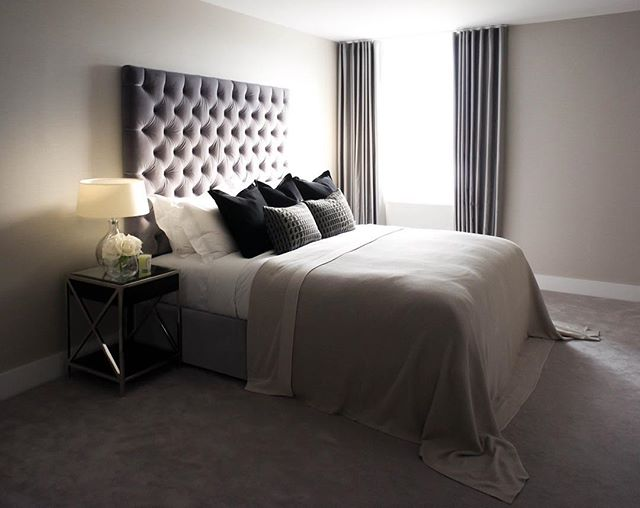 Three bedroom penthouse in Islington, London designed by Abahati Design . . . #luxury #residential #interiordesign #penthouse #masterbedroom #bedroom #headboard #abahatidesign #flowers #diptyque