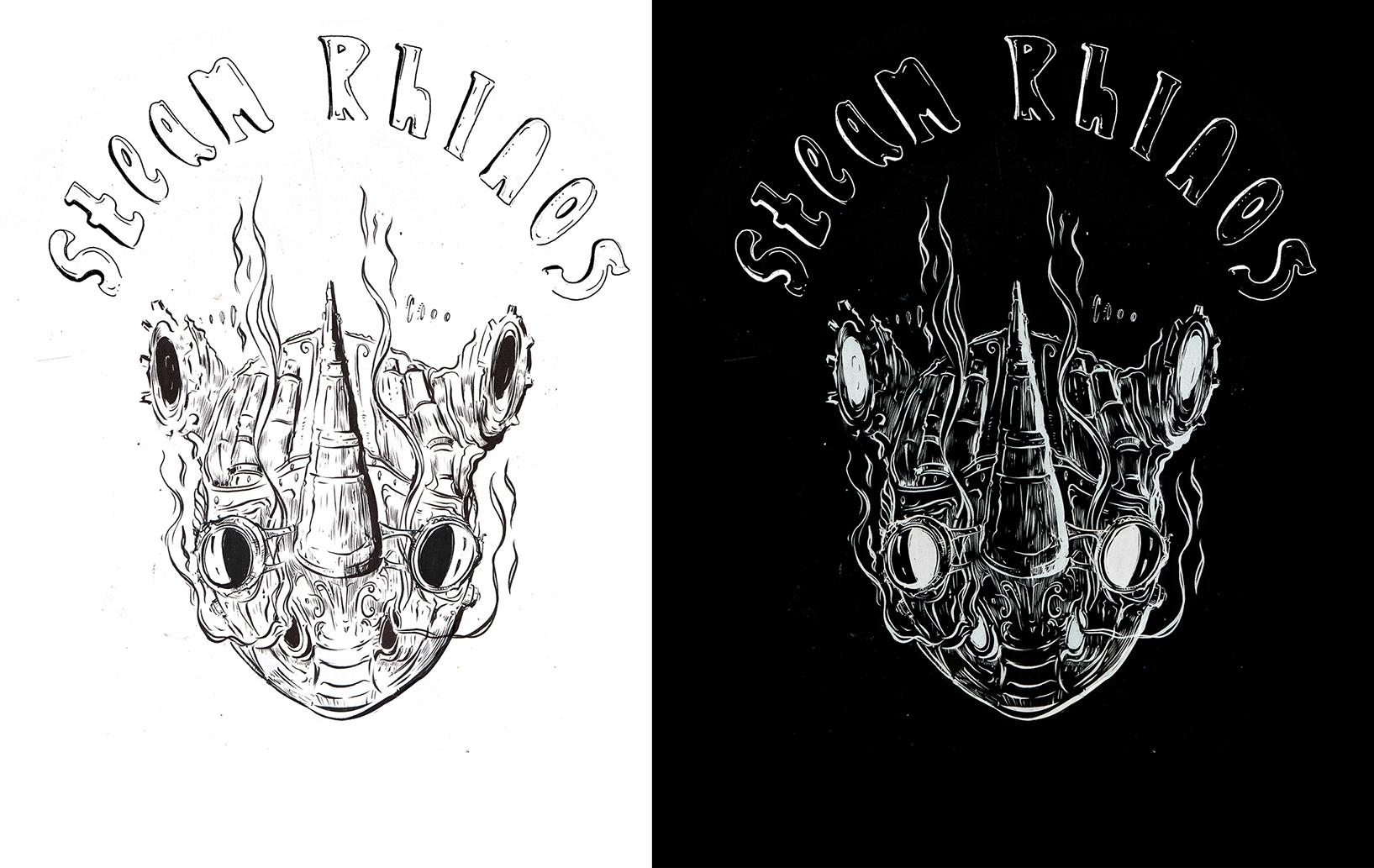 Steam Rhinos - Beer Label Design 2016