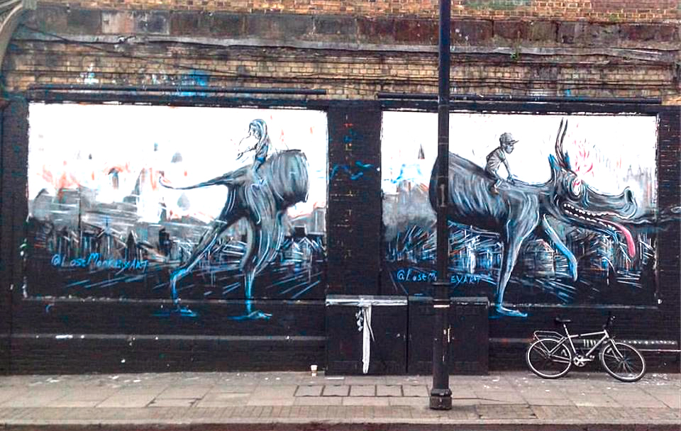Great fun painting this. In collaboration with Shoreditch Walls.