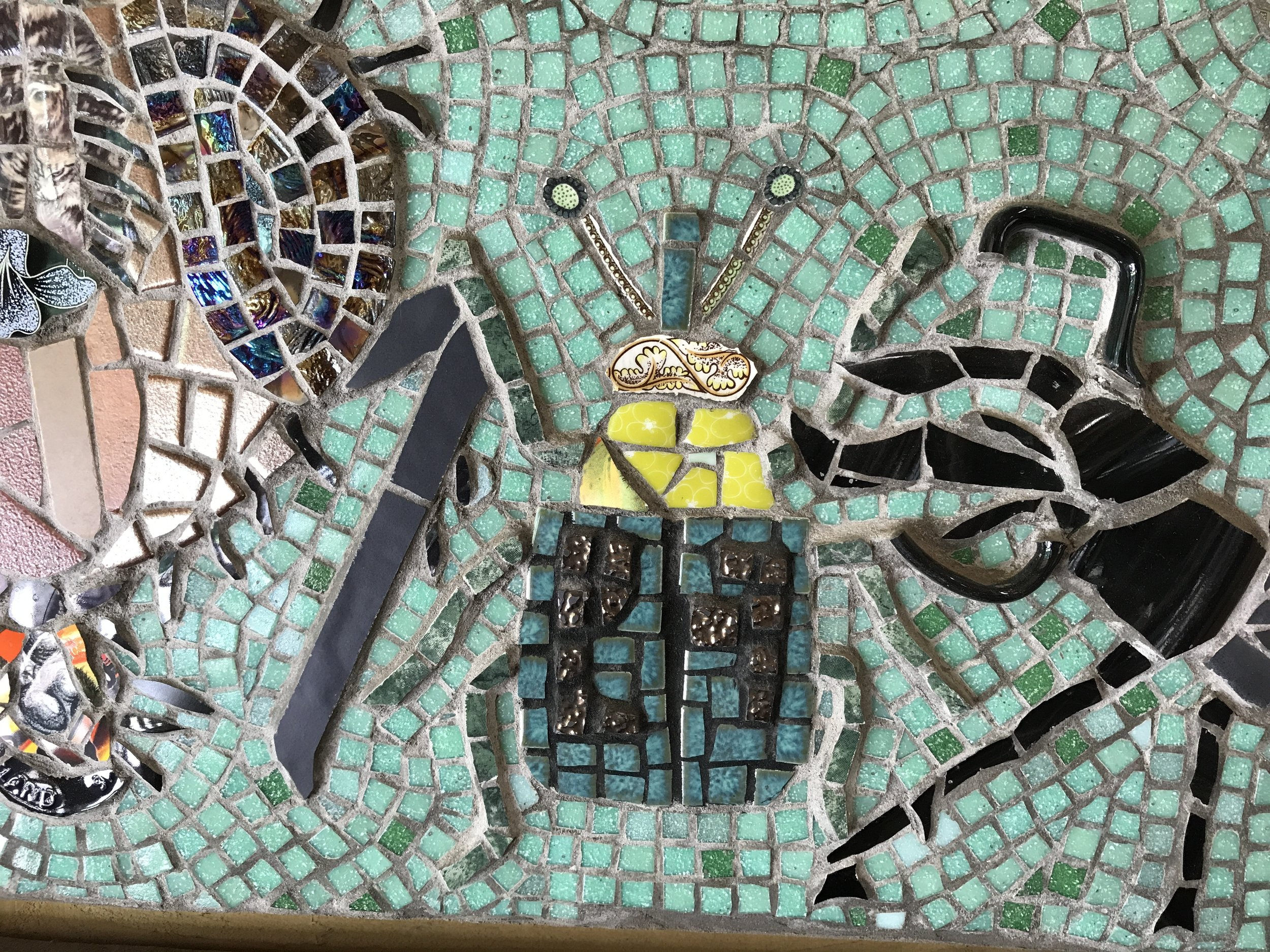 "Insects  panel in the Wyre Forest ""Biodiversity"" mosaic. Detail."