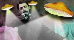 Pensive Proust and floating Madeleines