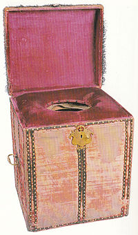 The Royal Commode c1650 (hrp.org.uk) padded for extra comfort!