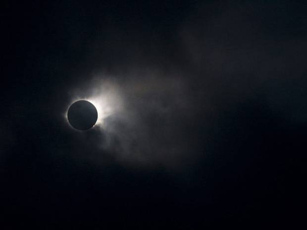 The Lunar eclipse over Faroe Island