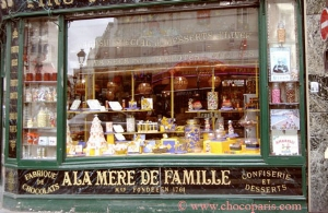 The oldest sweet shop in Paris, 1761 – could it be the loveliest too?? (photo credit: Chocoparis.com)