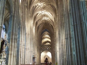 Majestic interior of Canterbury Cathedral