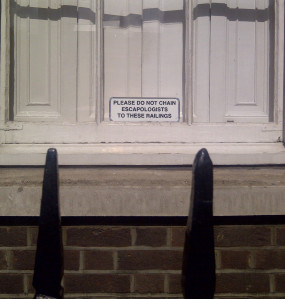 Houdini would have loved it – humorous sign