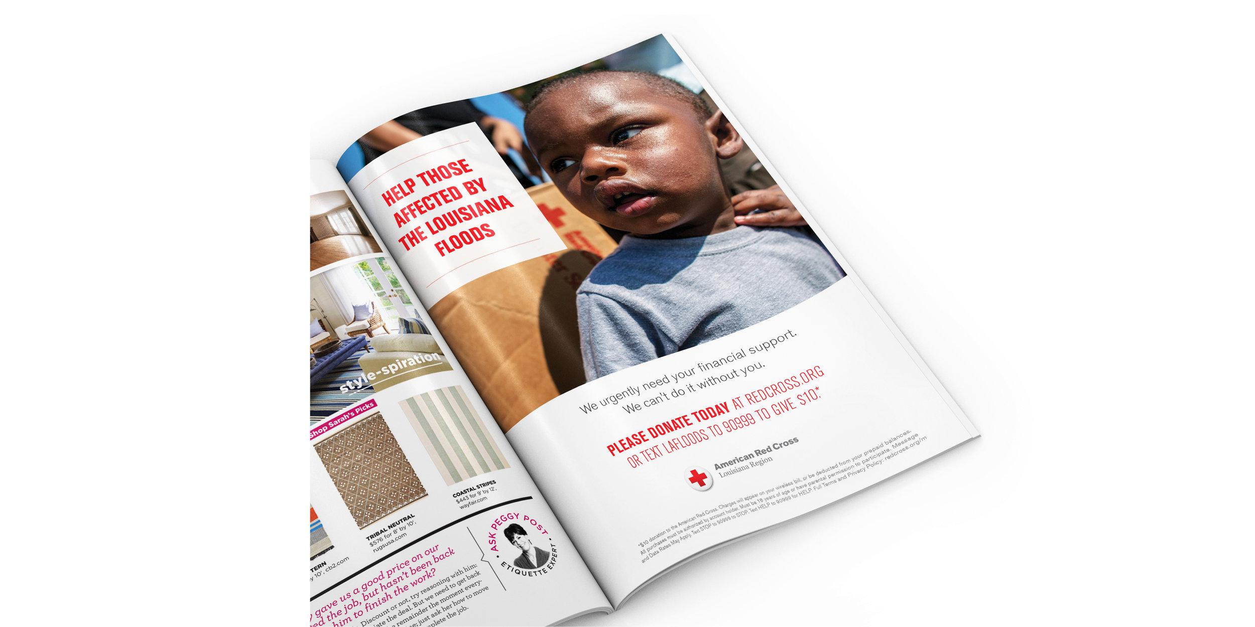 American Red Cross Disaster Relief Advertising — Sharyn Lange