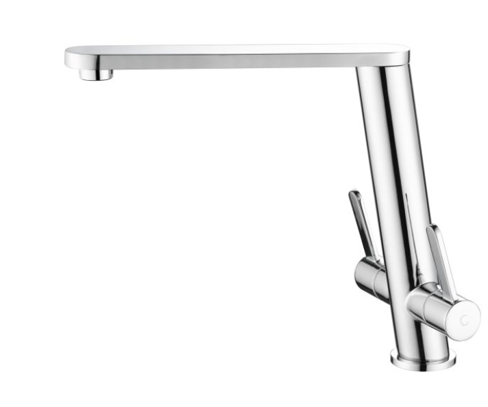 Toledo  Angled Feature Tap- Twin Lever PRBG1030 Brushed