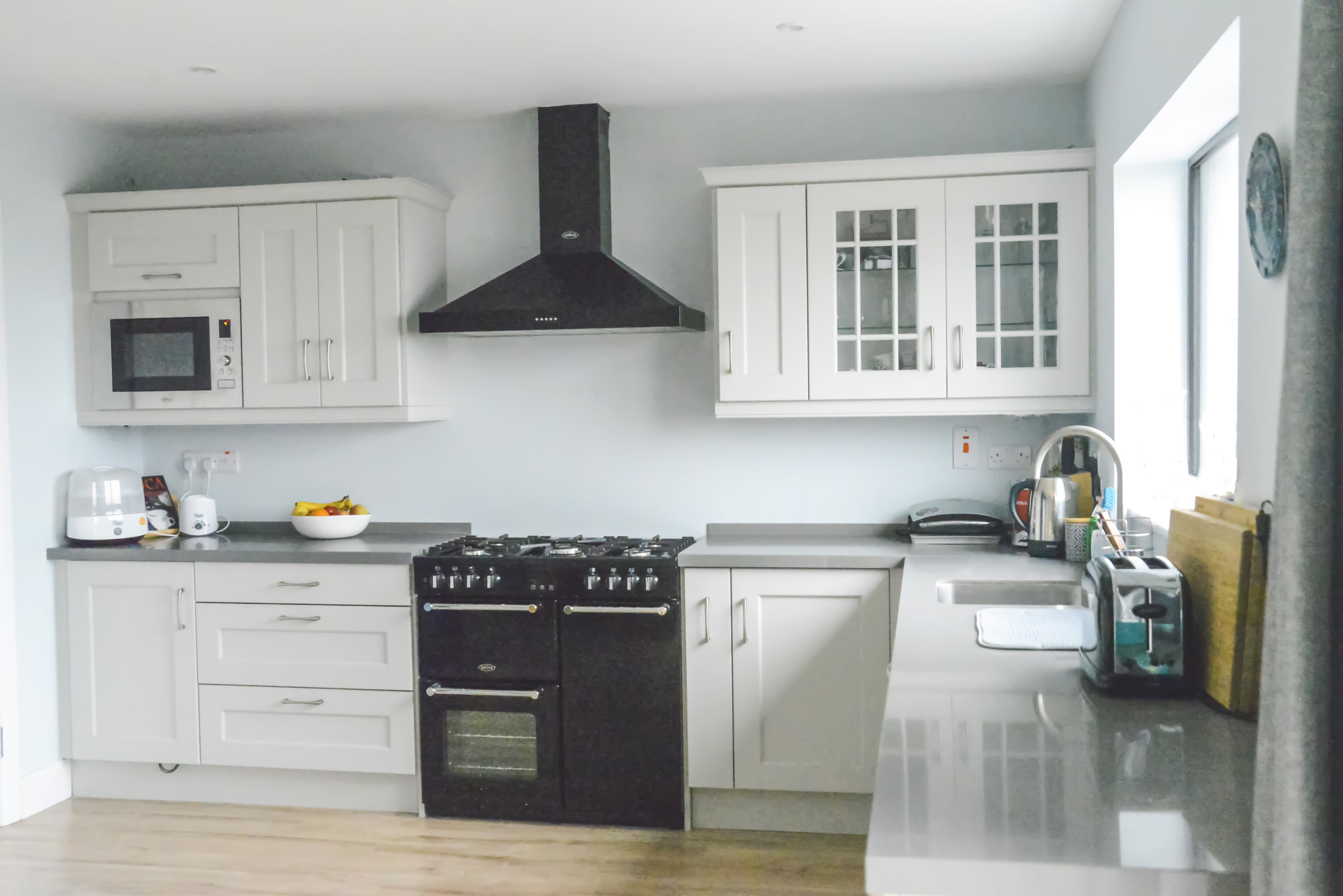 A Maxtop Warm Grey worktop installed in Cork