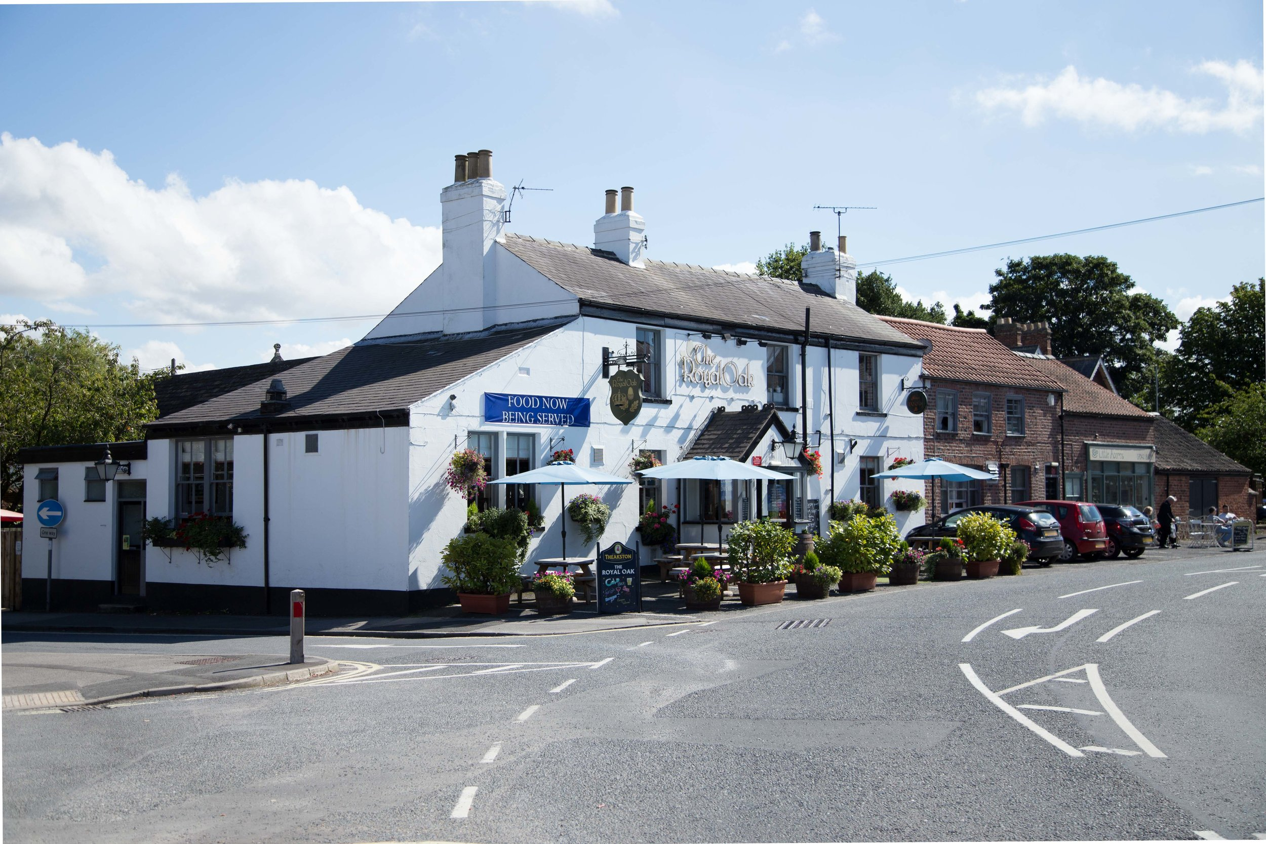 The Royal Oak Copmanthorpe  is located just off the A64 between York and Leeds, in the heart of the beautiful village of Copmanthorpe.