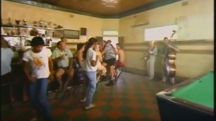 The Let's Dance video clip shot in the small western New South Wales town of Carinda.