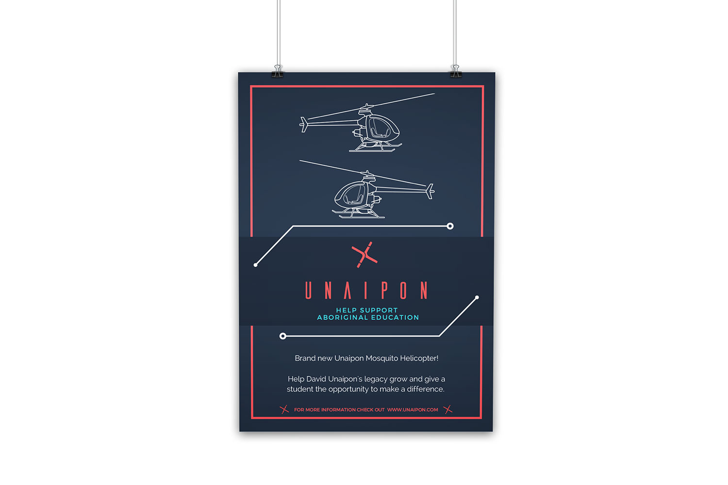 Unaipon Helicopter poster